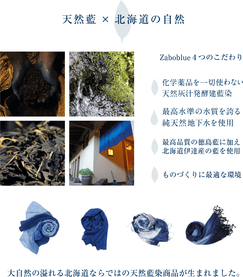 天然藍×北海道の自然