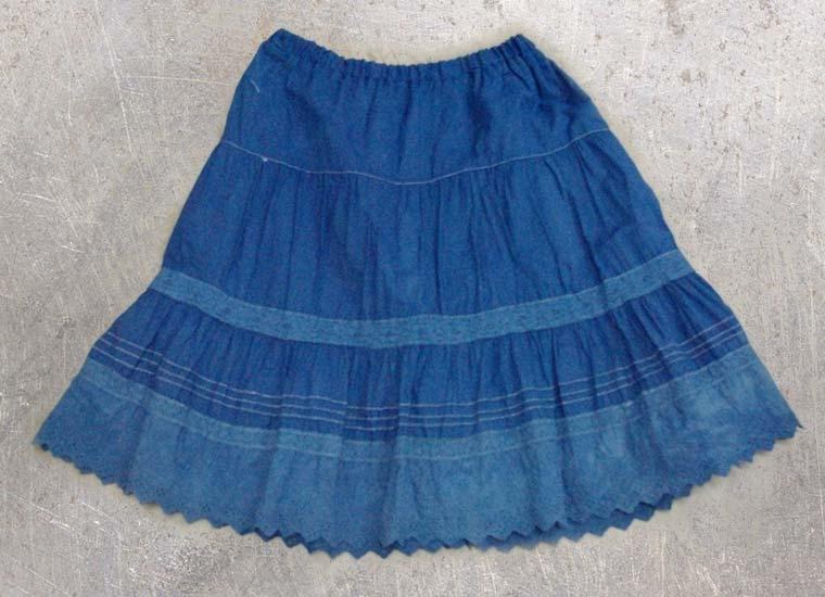 スカート-藍染直し後