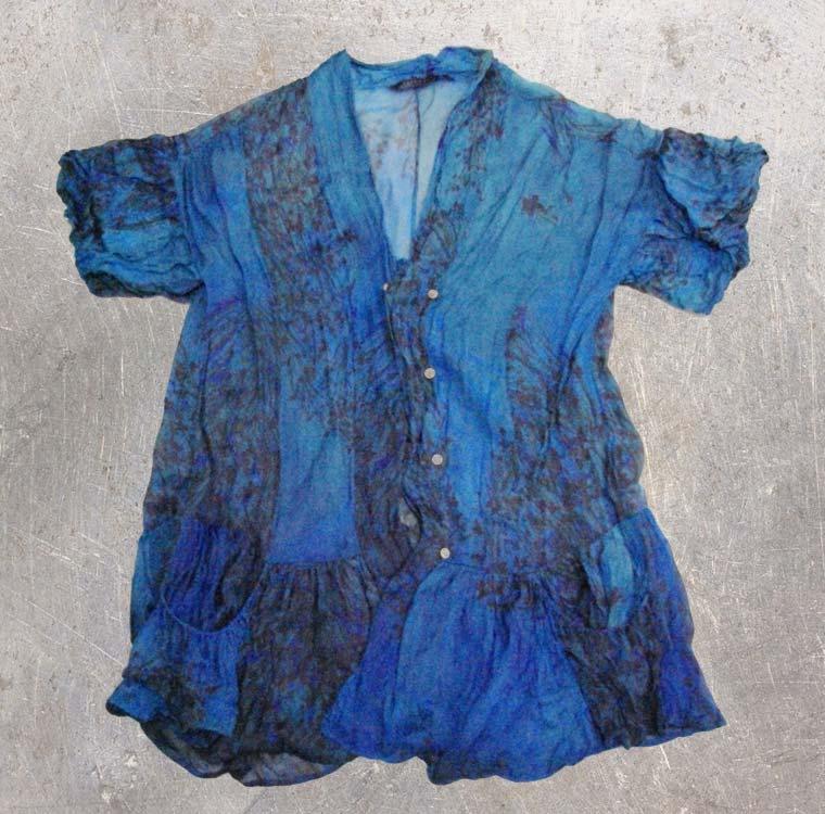 柄シャツ-藍染直し後