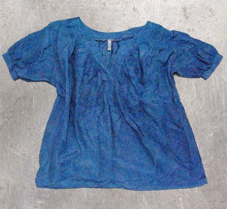 皺加工シャツ-藍染直し後