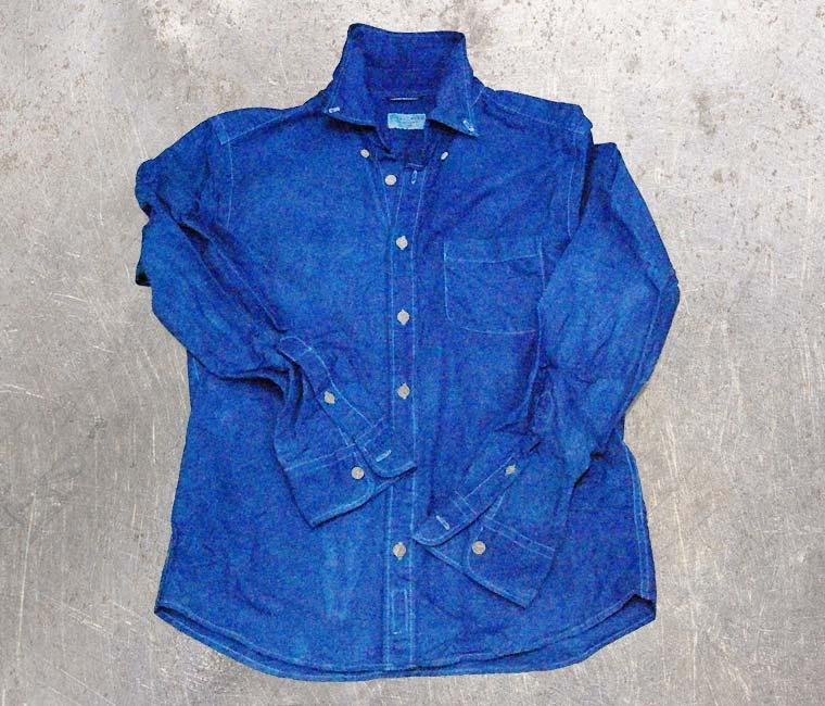 白Yシャツ-藍染直し後