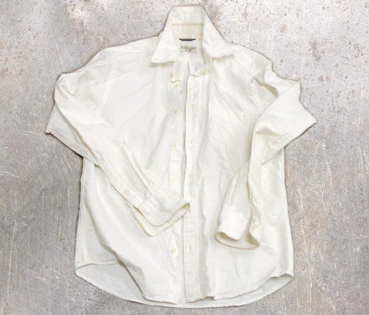 白Yシャツ-藍染直し前