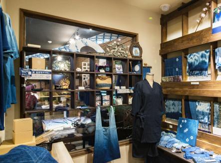 藍染店舗内写真