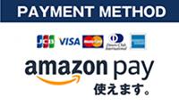 各種クレジットカード ・amazonpay支払いに対応しております。