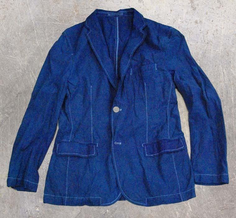ジャケット-藍染直し後