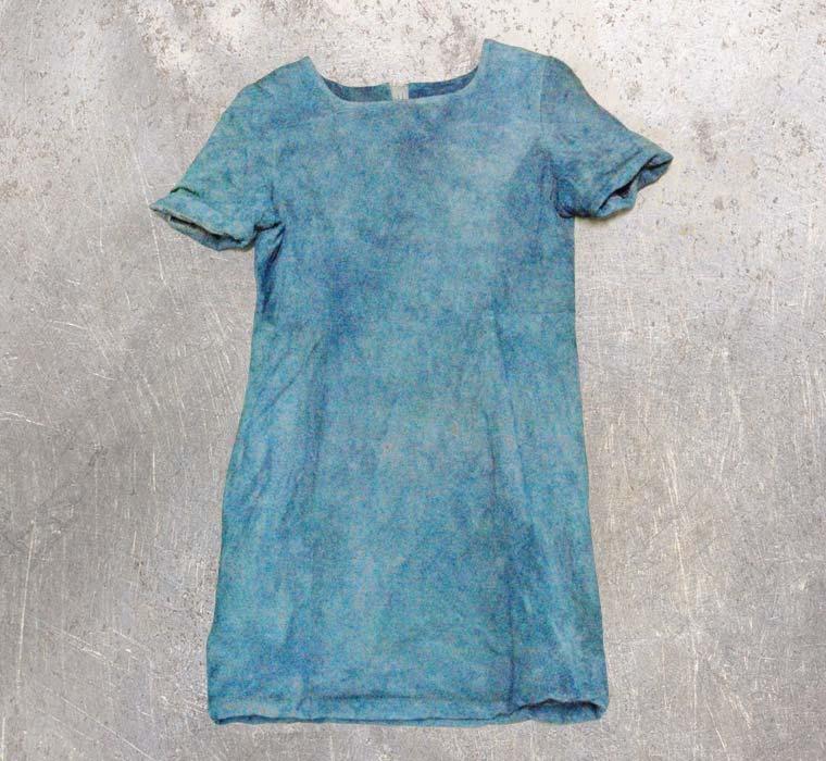 スエードインナー-藍染直し後